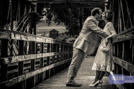 Outdoor wedding photos at the Great Room at Savage Mill