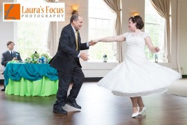 Father daughter wedding dance at The Great Room at Savage Mill