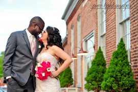 Bride and Groom at The Great Room at Savage Mill