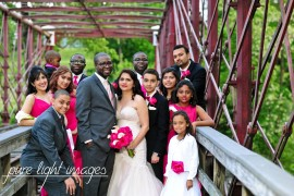 Outdoor wedding photo at The Great Room at Savage Mill